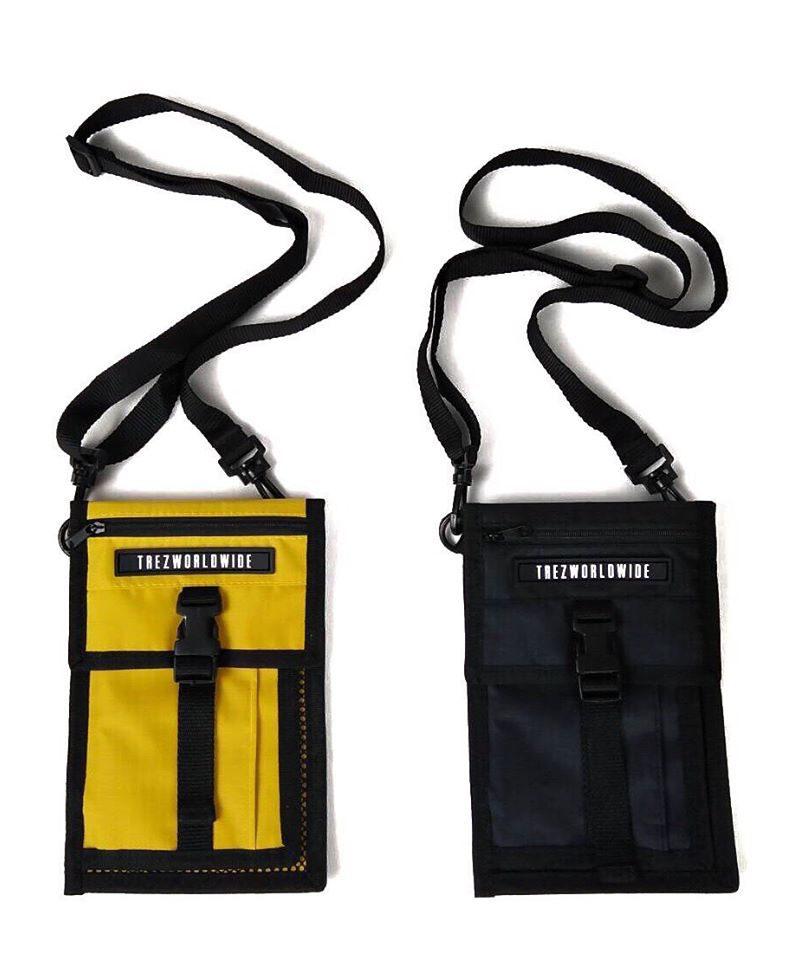POCKET SHOULDER BAG (BLACK/YELLOW)