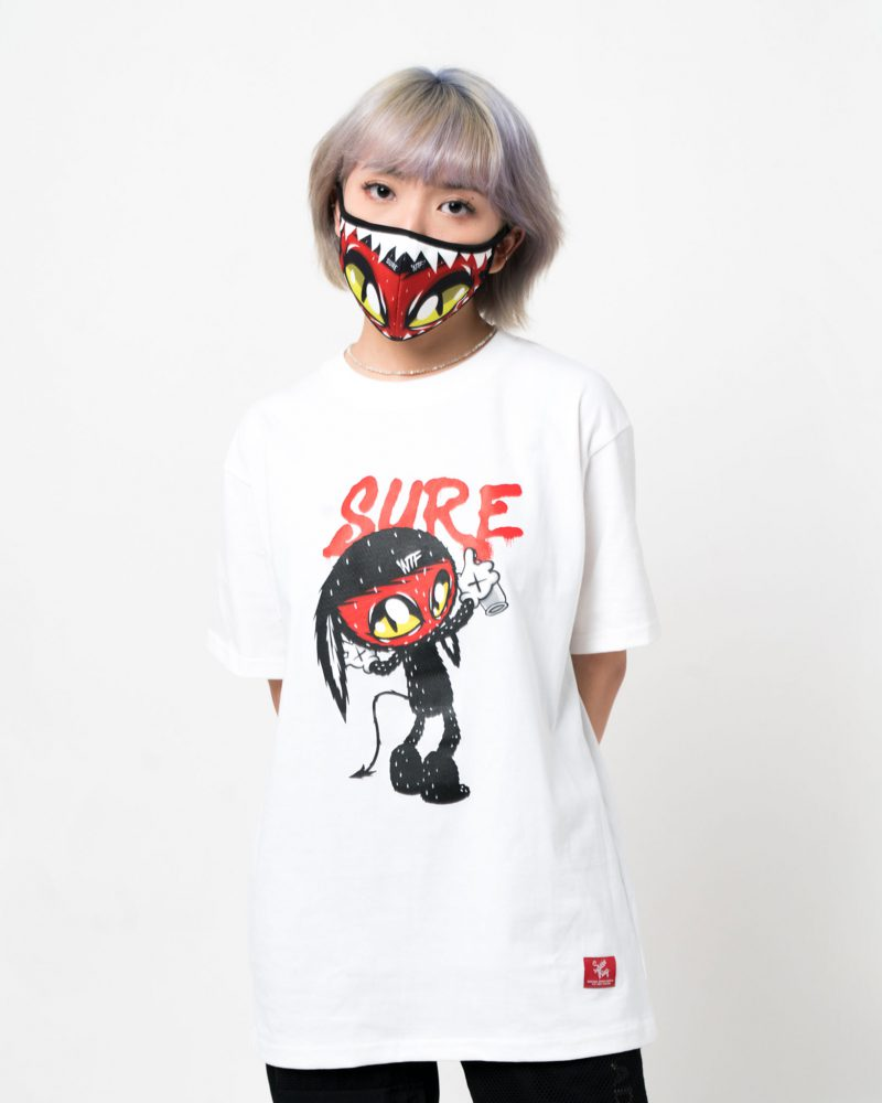 SURETHING X OCTOBER29 CHARACTER TEE WHITE