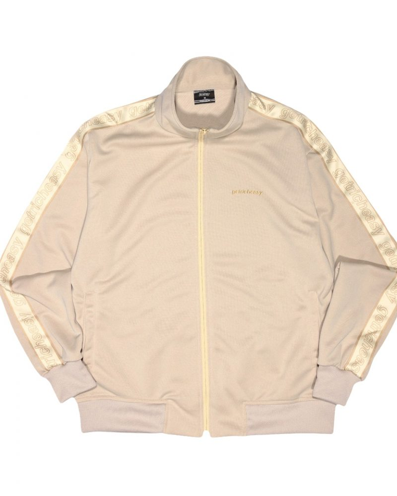 GET RICH EASY TAPED TRACK JACKET KHAKI