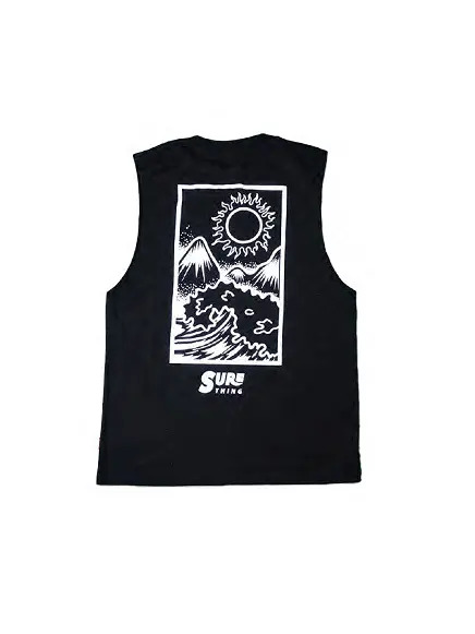 SURE THING NEW WAVE TEE BLACK