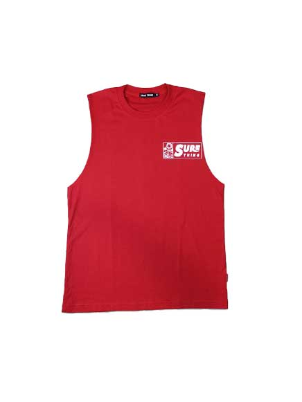 SURE THING NEW WAVE TEE RED