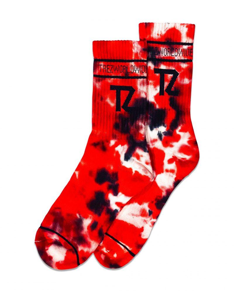 TZ TIE TILL DYE SOCKS RED & BLACK