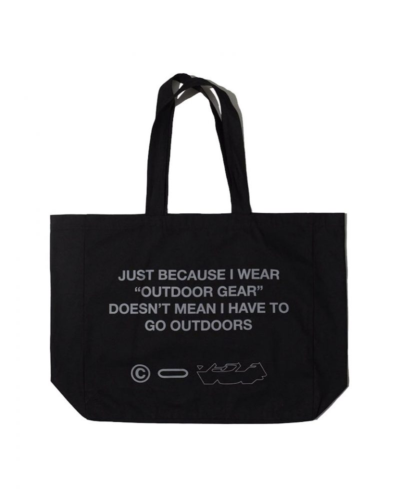OUTDOOR GEAR OVERSIZED TOTE BAG BLACK