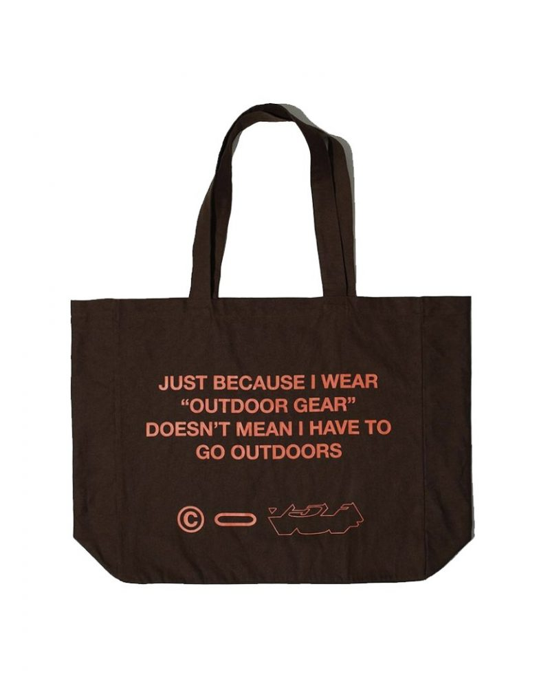 OUTDOOR GEAR OVERSIZED TOTE BAG BROWN