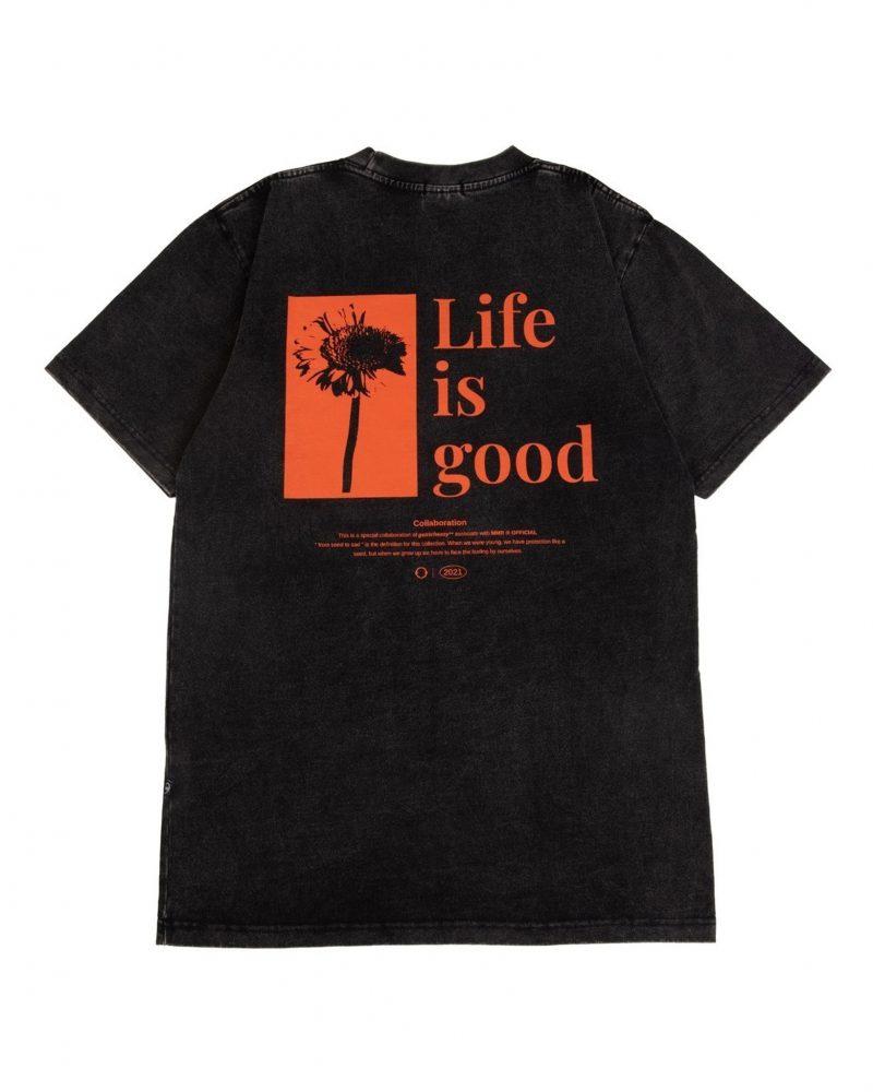 GETRICHEASY LIFE IS GOOD TEE BLACK