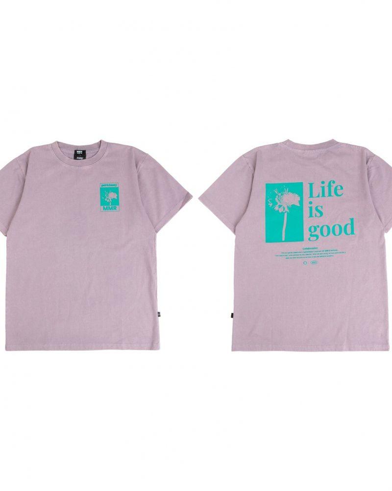 GETRICHEASY LIFE IS GOOD TEE PURPLE