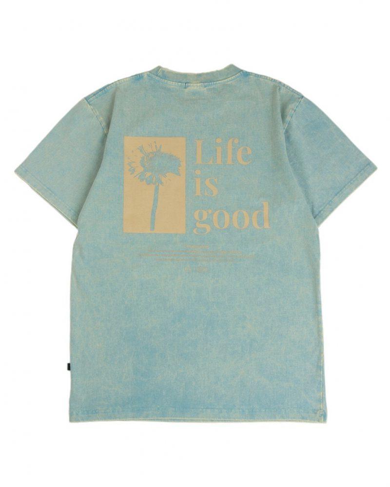 GETRICHEASY LIFE IS GOOD TEE GREEN