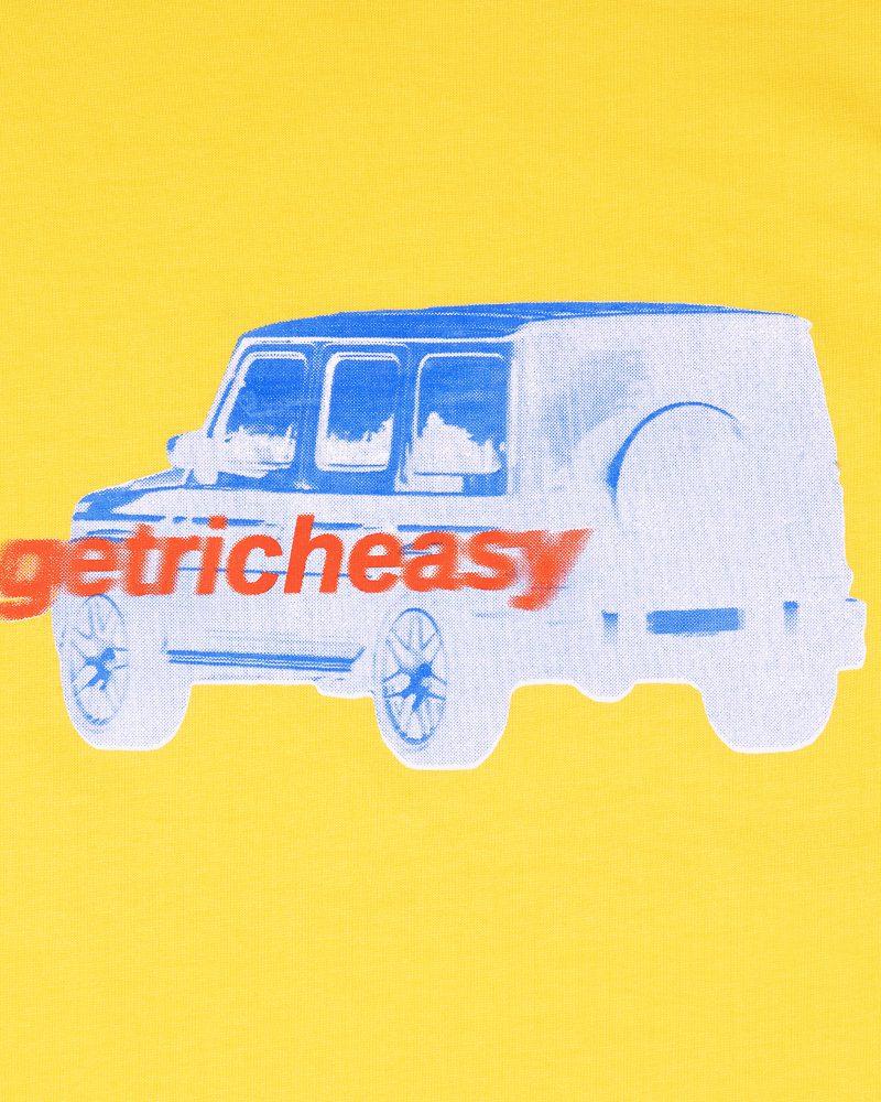 "GETRICHEASY GRAPHIC TEE CAR ""YELLOW"""