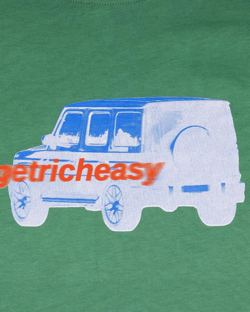 """GETRICHEASY GRAPHIC TEE CAR """"GREEN"""""""