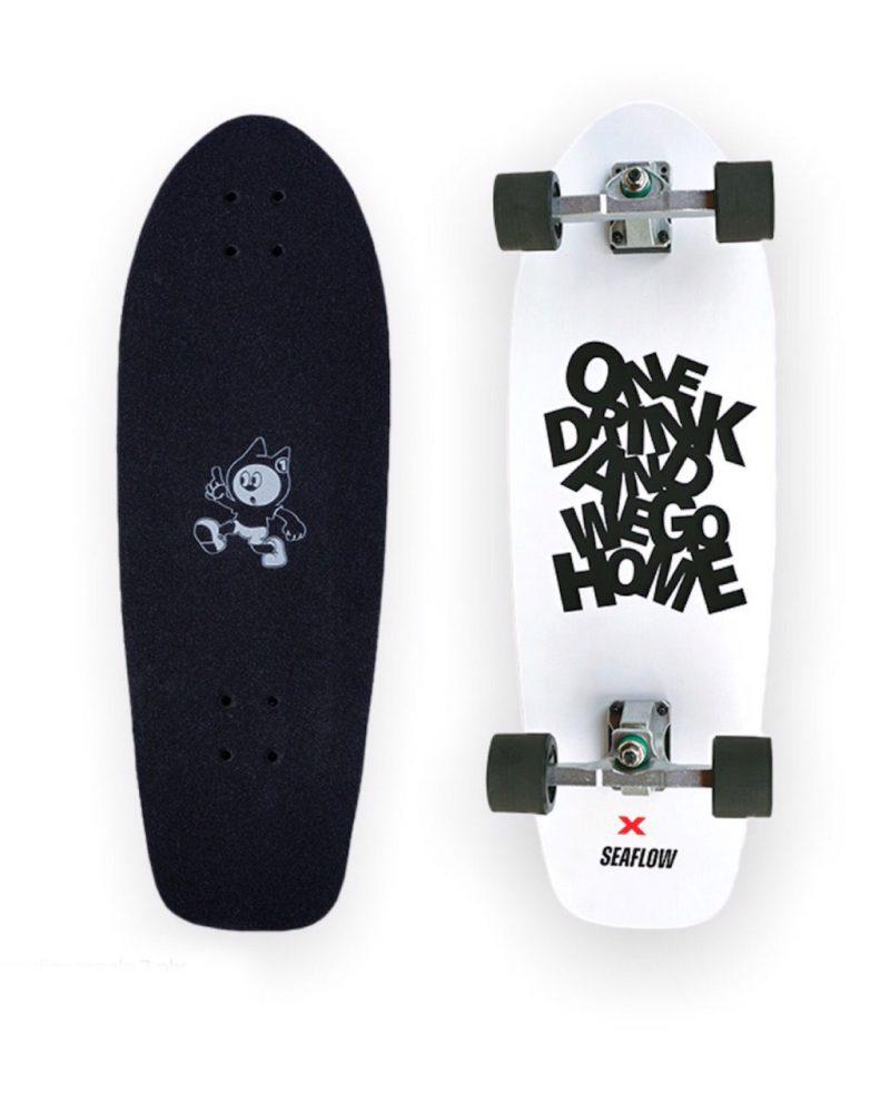 ONEDRINK X SEAFLOW SURF SKATE WHITE