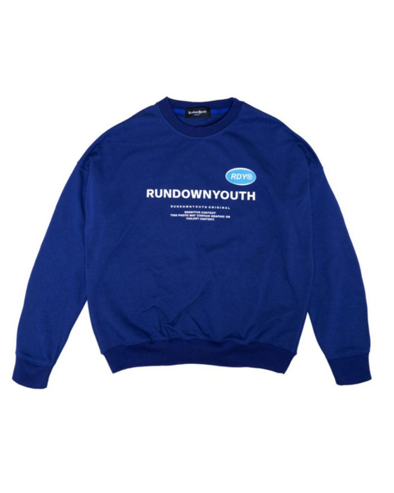 """RUNDOWNYOUTH """"WELLNESS CLUB"""" LOGO PRINT SWEATER COLLECTION LIMITED EDITION"""