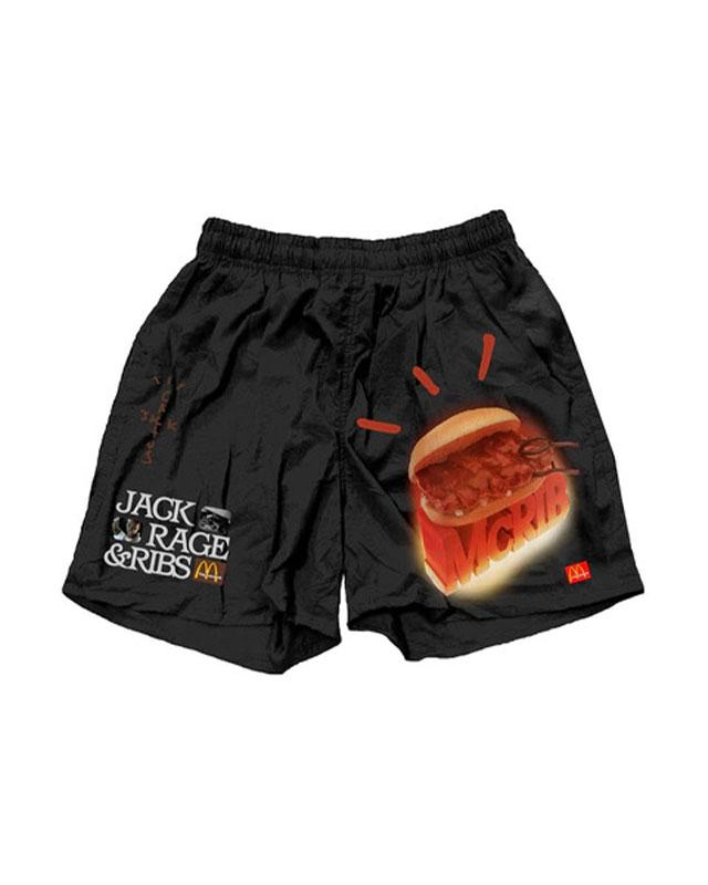 TRAVIS SCOTT CACTUS JACK BLACK McDonalds MCRIB SHORTS